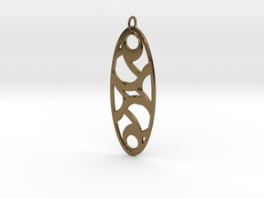 Circle Pendant in Polished Bronze