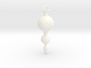 Christmas Tree Ornament *Snowflake* in White Processed Versatile Plastic