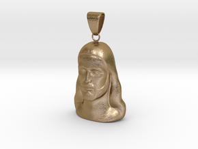 Jesus model  in Polished Gold Steel