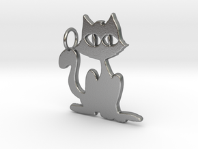 Kitty Pendant in Natural Silver