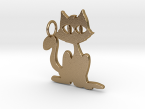 Kitty Pendant in Polished Gold Steel