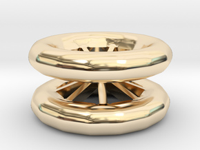 Double Wheel Export 3 in 14K Yellow Gold