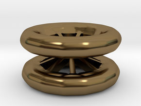Double Wheel Export 3 in Polished Bronze