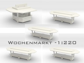 Wochenmarkt - 1:220 (Z scale) in White Strong & Flexible