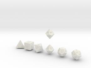 QUADRANT Sharp Outies dice in White Natural Versatile Plastic