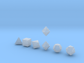 FUTURISTIC Outies Sharp dice in Smooth Fine Detail Plastic