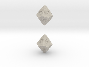 ANCIENT RELICS d10 d00 in Natural Sandstone