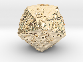 ELDRITCH ROUGH d20 in 14K Yellow Gold