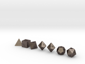 World's Smallest Dice!! Only The Smallest in Polished Bronzed Silver Steel