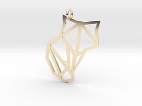Origami Fox Pendant in 14K Yellow Gold