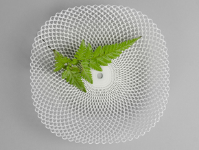 Sine Bowl in White Natural Versatile Plastic