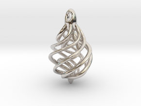 DNA Teardrop Pendant in Platinum