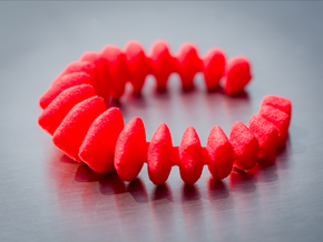 Stegosaurus Ring in Red Processed Versatile Plastic