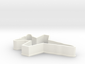 F18 Cookie Cutter in White Processed Versatile Plastic
