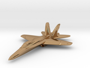 F18e Jet Aircraft  - Monopoly Metal Model in Polished Brass
