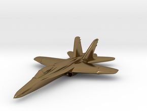 F18e Jet Aircraft  - Monopoly Metal Model in Polished Bronze