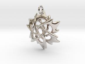 6 Flame Petals - 2.5cm - wLoopet in Platinum