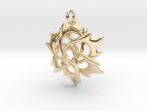 6 Flame Petals - 2.5cm - wLoopet in 14k Gold Plated Brass