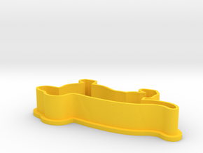 Dachshund Cookie Cutter in Yellow Strong & Flexible Polished