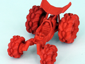 "Baja Racer V3 interlock -100%(2.5""-6.3cm long) SLS in Red Processed Versatile Plastic"
