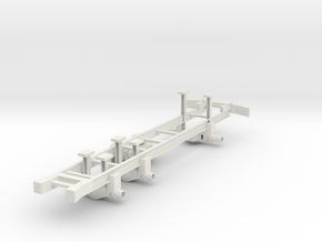 Cargo Truck Frame(1:18 Scale) in White Natural Versatile Plastic