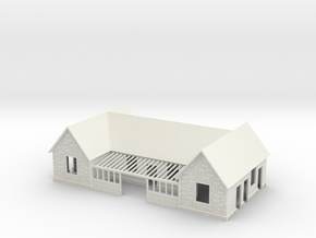 N Scale Bampton railway station 1:148 in White Natural Versatile Plastic
