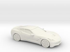 1/48 2014 Corvette Stingray C7 in White Natural Versatile Plastic