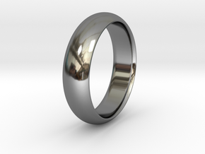 Wedding ring in Fine Detail Polished Silver