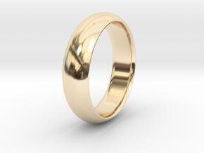 Wedding ring in 14k Gold Plated Brass