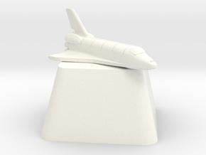 Enterprise Shuttle Cherry MX Keycap in White Processed Versatile Plastic
