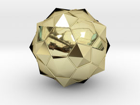 Truncated Icosahedron - aka Football in 18k Gold Plated Brass