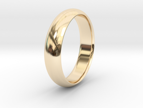Wedding ring in 14k Gold Plated Brass