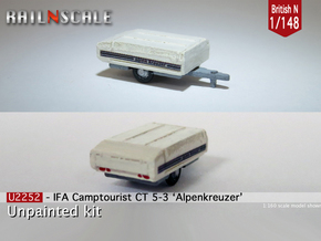 IFA Camptourist 'Alpenkreuzer' (British N 1:148) in Smooth Fine Detail Plastic