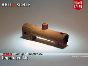 Rusty boiler (British N 1:148) in White Strong & Flexible