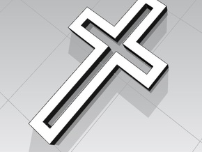 Stylish Affordable Cross Jewelry in White Natural Versatile Plastic