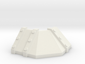 Trench Outer Turn section in White Natural Versatile Plastic