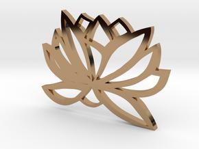 Lotus Design  in Polished Brass