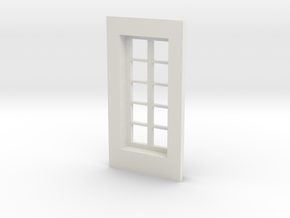 Window type 1 in White Natural Versatile Plastic