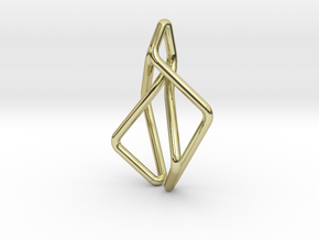 N-Line No.2 Pendant. Natural Chic in 18k Gold Plated Brass
