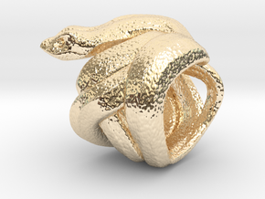Snake No.2 in 14k Gold Plated Brass