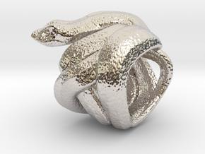 Snake No.2 in Rhodium Plated Brass