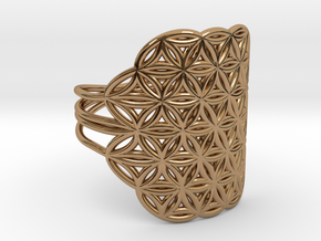 FLOWER OF LIFE Ring Nº32 in Polished Brass