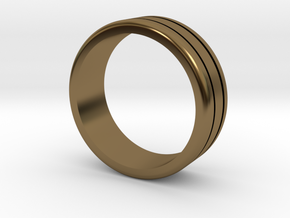 Classic wedding ring in Polished Bronze