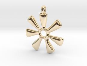 ANANSE NTONTAN Symbol Jewelry Pendant in 14K Yellow Gold