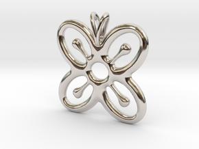 BESE SAKA Symbol Jewelry Pendant in Rhodium Plated Brass