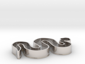Snake Cookie Cutter in Platinum