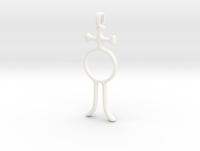 ALCHOOL Alchemy Symbol Jewelry Pendant in White Processed Versatile Plastic
