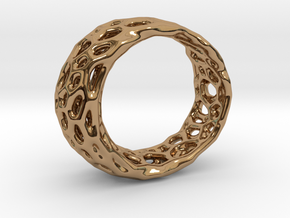 Frohr Design Radiolaria Ring in Polished Brass