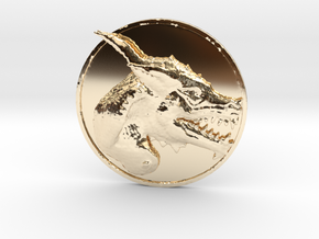 Dragon Medallion  in 14K Yellow Gold