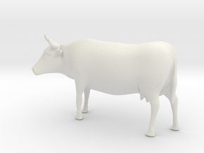 Cow 01 .Scale HO (1:87) in White Strong & Flexible